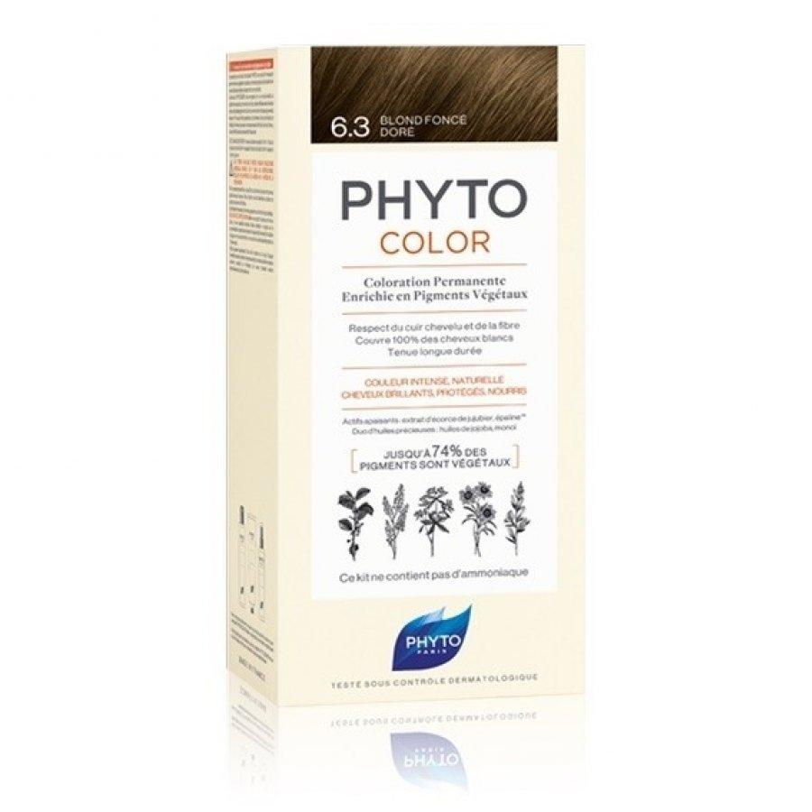 PhytoColor Phyto Linea Phyto Color Colorazione Permanente Delicata 6.3 Biondo Scuro Dorato