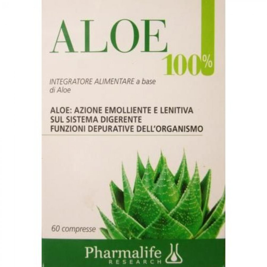 PHARMALIFE RESEARCH Srl Pharmalife Research Aloe 100% Integratore Alimentare 60 Compresse