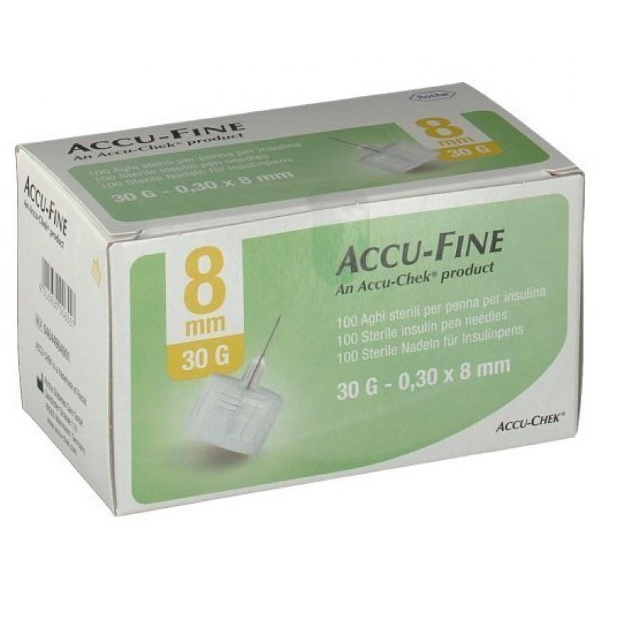 Accu-Fine - 100 Aghi Sterili Per Penna Insulina G30 8Mm