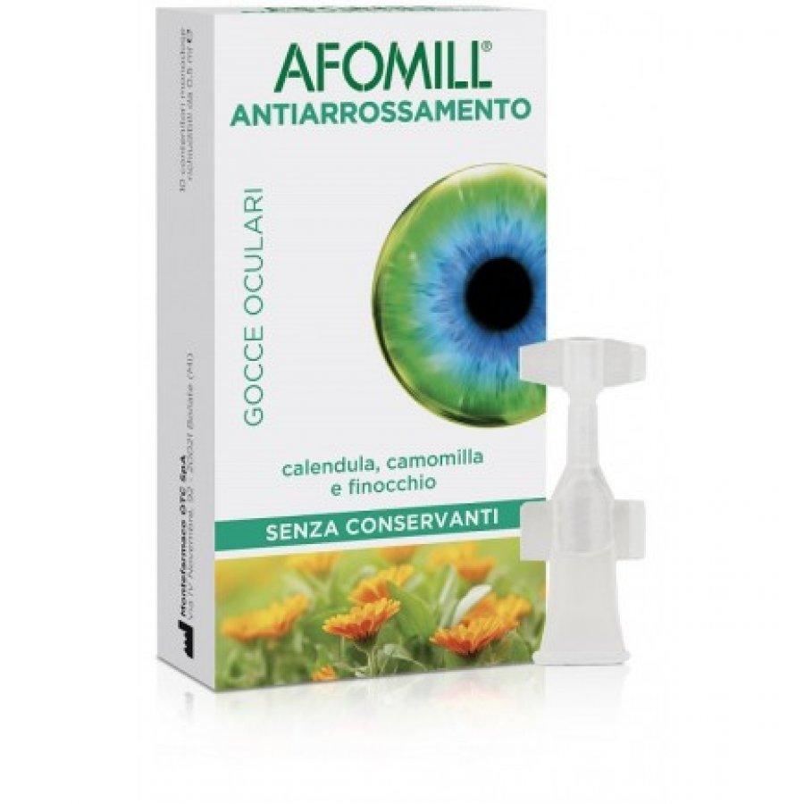 Afomill Antiarrossamento Gocce Oculari 10 Contenitori Monodose