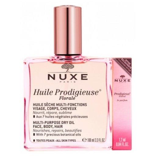 Nuxe Huile Prodigieuse - Olio Secco Florale 100ml+ Prodigieux Floral Le Parfum - 1,2ml.