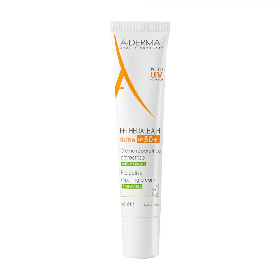 Aderma Epitheliale AH Ultra SPF50+Crema Ristrutturante Protettiva - Pelle Fragilizzata - 40ml