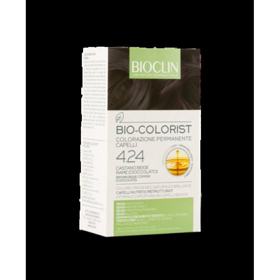 Bioclin Bio-Colorist Colorazione Permanente Capelli Castano Beige Rame 4.24