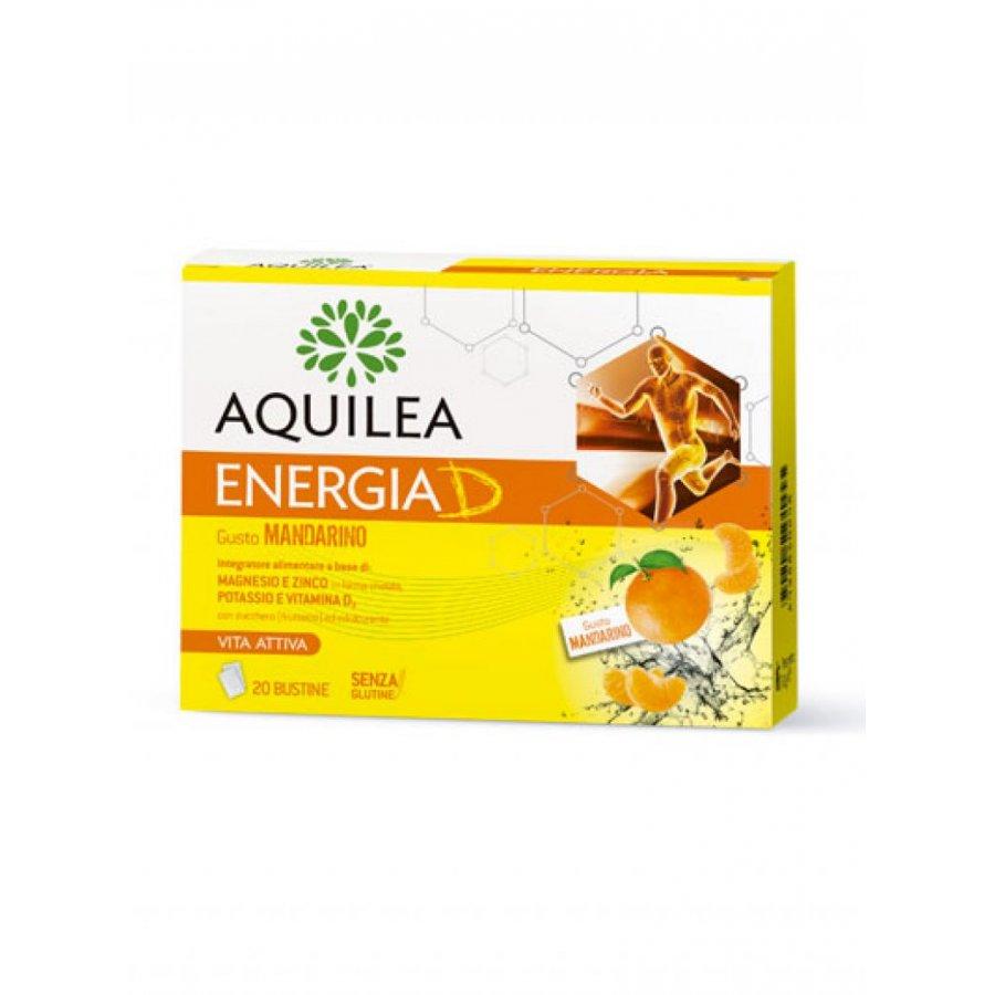 Aquilea Energia D Integratore Alimentare Gusto Mandarino 20 bustine