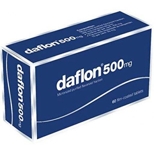 Daflon 60 compresse rivestite 500mg -  servier italia spa - integratore per l'insufficienza venosa