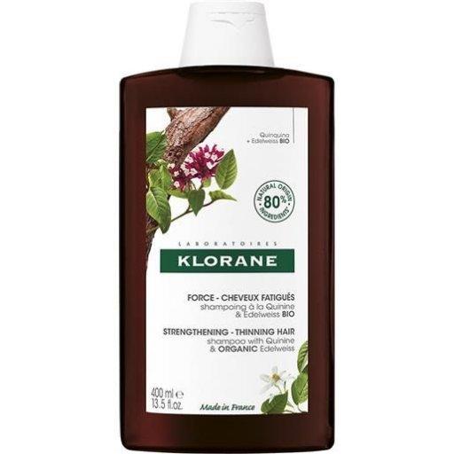 Klorane - Shampoo Alla Chinina E Stella Alpina Bio - Caduta Capelli 400ml