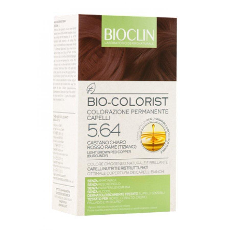 Bioclin Bio-Colorist Colorazione Permanente Capelli Castano Chiaro Rosso Rame (Tiziano) 5.64