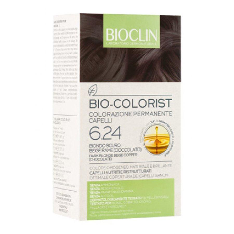 BIOCLIN BIO COLORIST TINTA PER CAPELLI BIONDO SCURO BEIGE RAME (CIOCCOLATO) 6.24