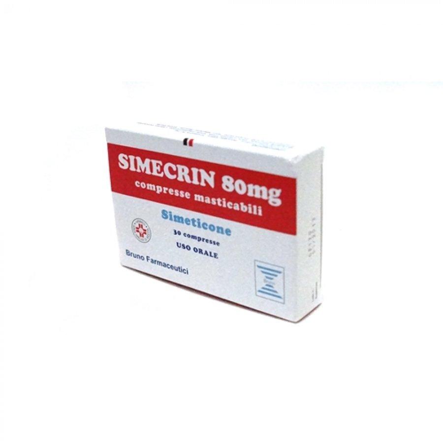 SIMECRIN 30 COMPRESSE MASTICABILI 80 MG