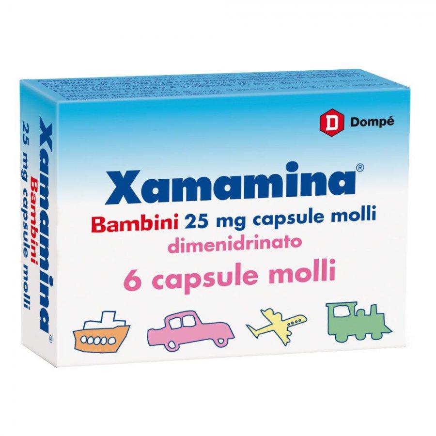 Xamamina bambini 25 mg 6 capsule molli