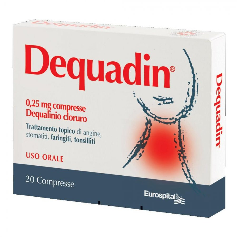 DEQUADIN*20 CPR 0,25 MG