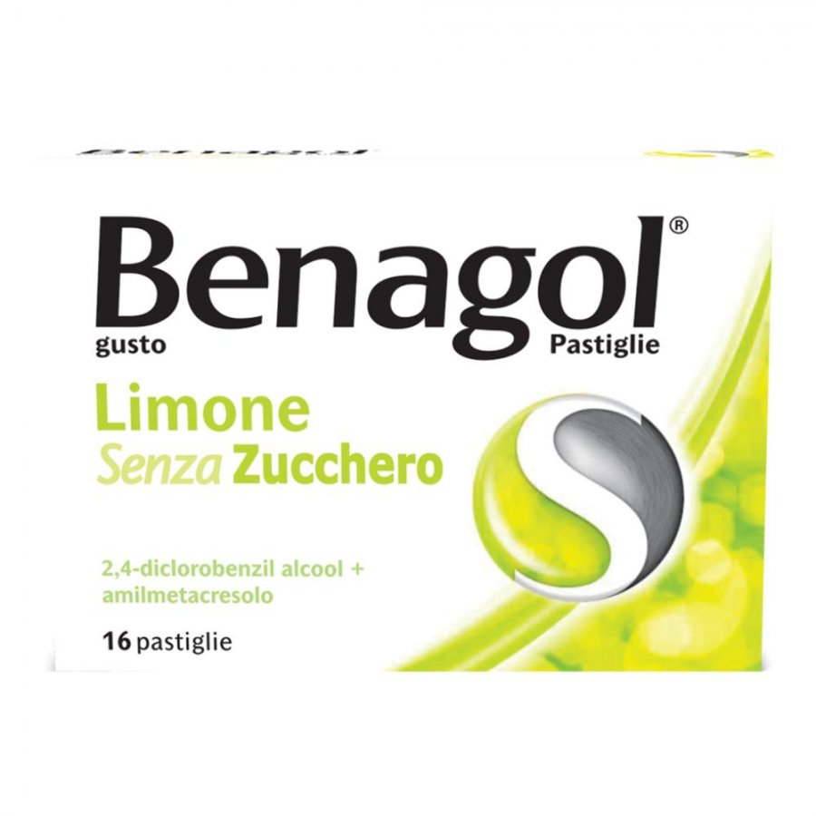 Benagol - Gusto Limone Senza Zucchero - 16 Pastiglie - RECKITT BENCKISER H.(IT.) SpA