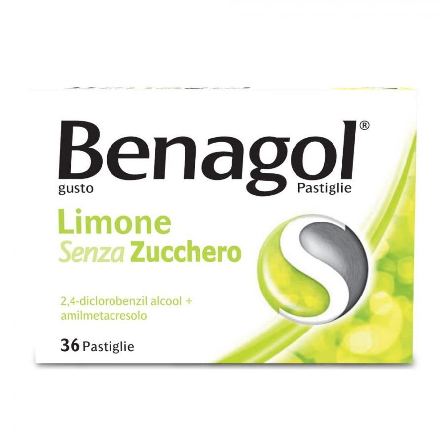 Benagol - 36 Pastiglie Senza Zucchero Gusto Limone -  RECKITT BENCKISER H.(IT.) SpA