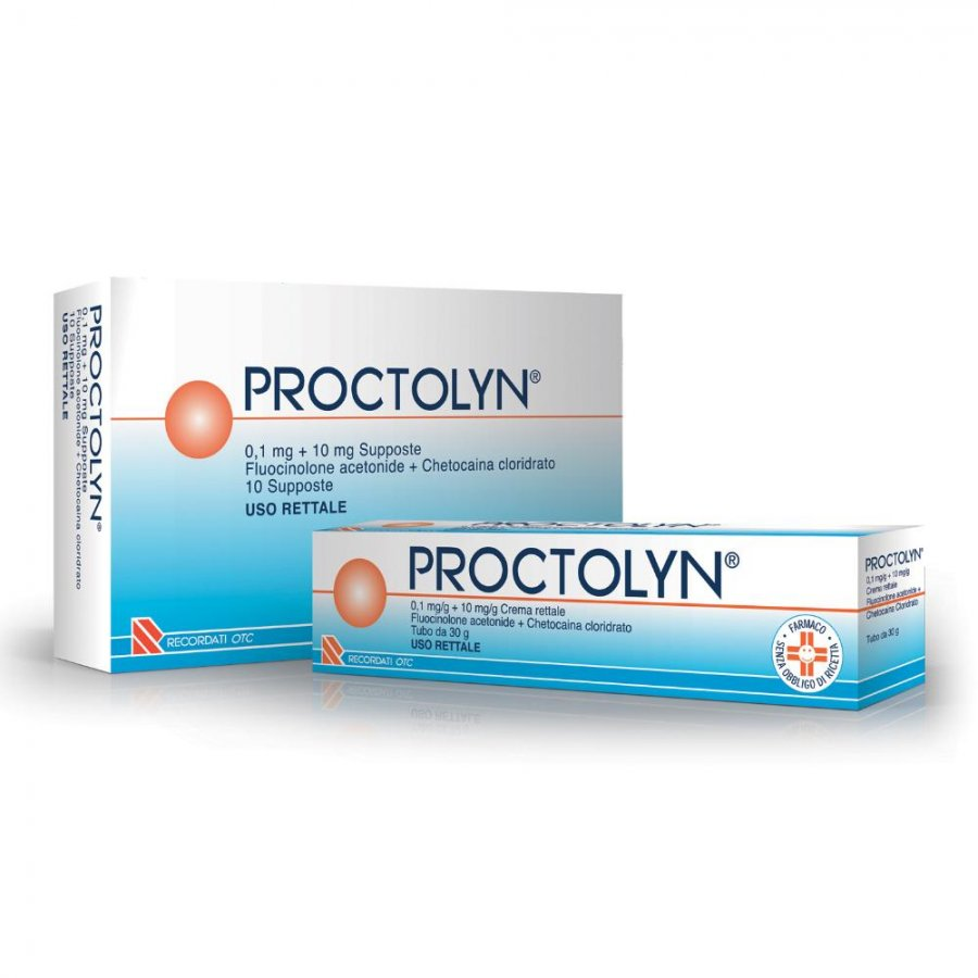Recordati Spa Proctolyn 0,1 Mg + 10 Mg Supposte 10 Supposte