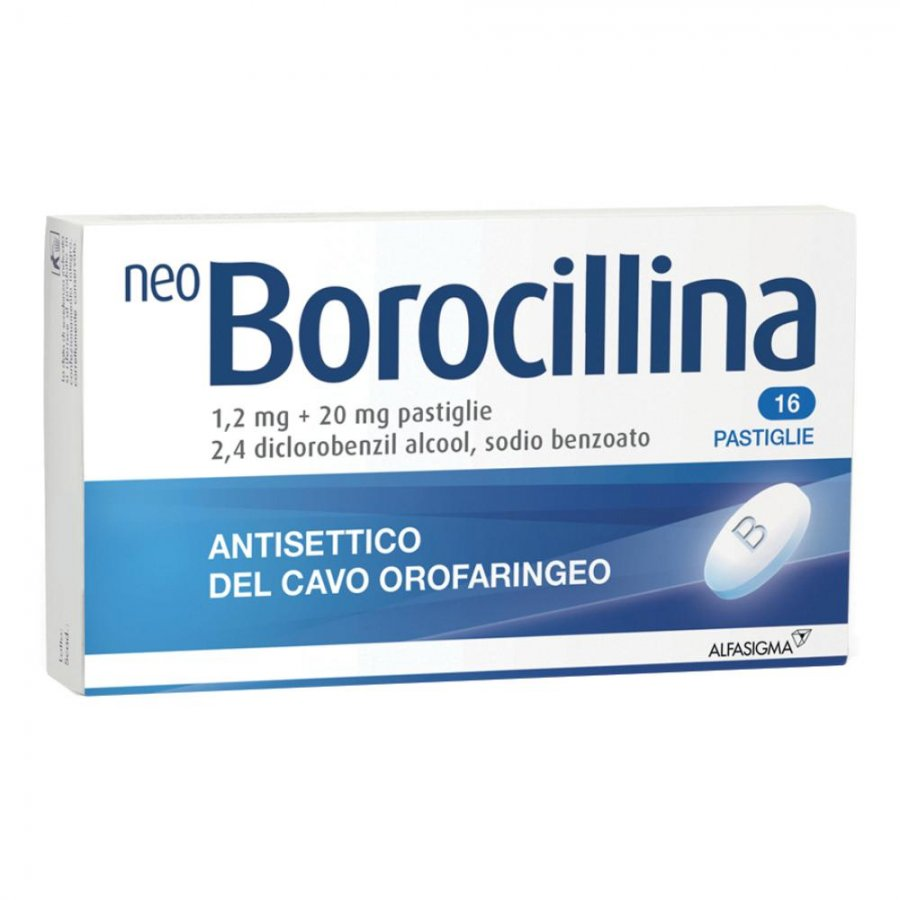 NEOBOROCILLINA 16 PASTIGLIE 1,2 + 20MG