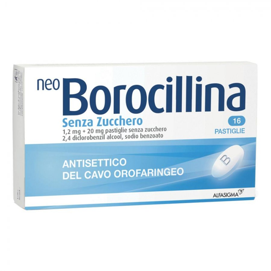 NEOBOROCILLINA 16 PASTIGLIE SENZA ZUCCHERO - ALFASIGMA SpA