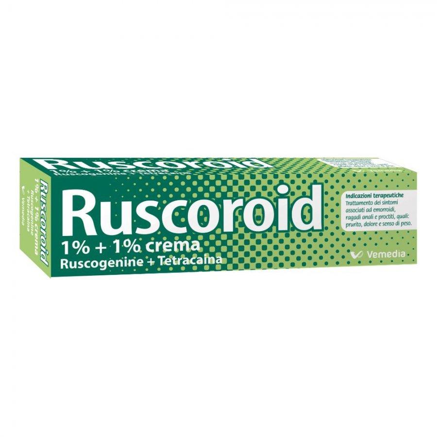 Ruscoroid Crema Rettale 40g 1%+1%