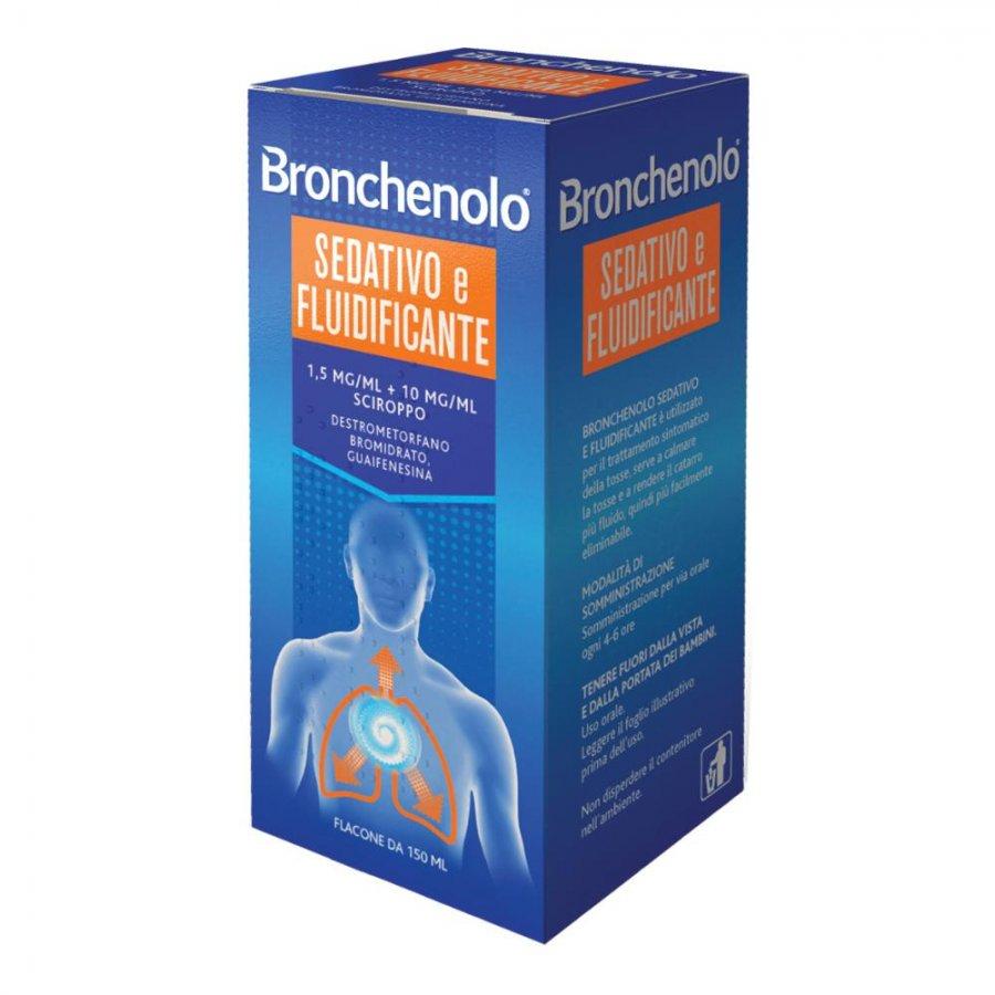 BRONCHENOLO SEDATIVO E FLUIDIFICANTE sciroppo 150 ml senza zucchero