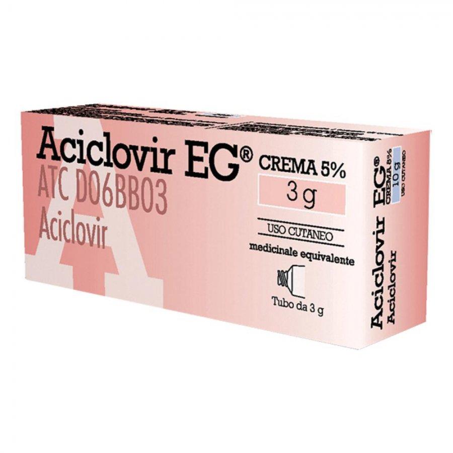 ACICLOVIR EG*CREMA 3 G