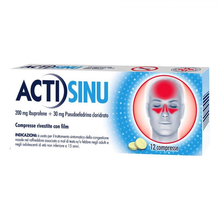 ACTISINU 12 compresse Sinusite 200MG+30MG