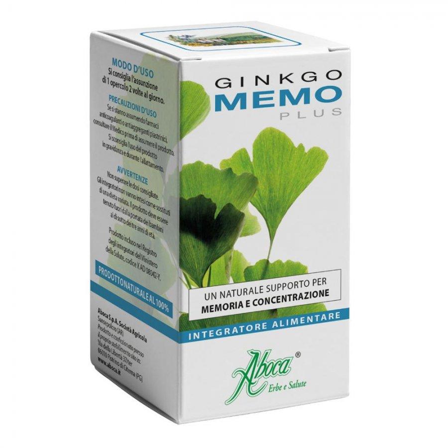 Aboca Naturaterapia Linea Memoria Ginkgo Memo Plus 50 Opercoli GINKGOMEMO