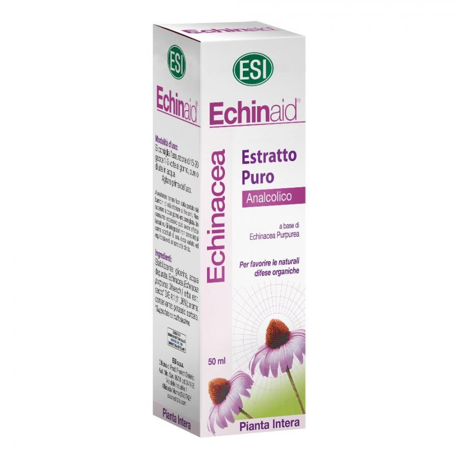 Echinaid Estratto Puro Liquido Analcolico 50ml - Integratore per le difese organiche -