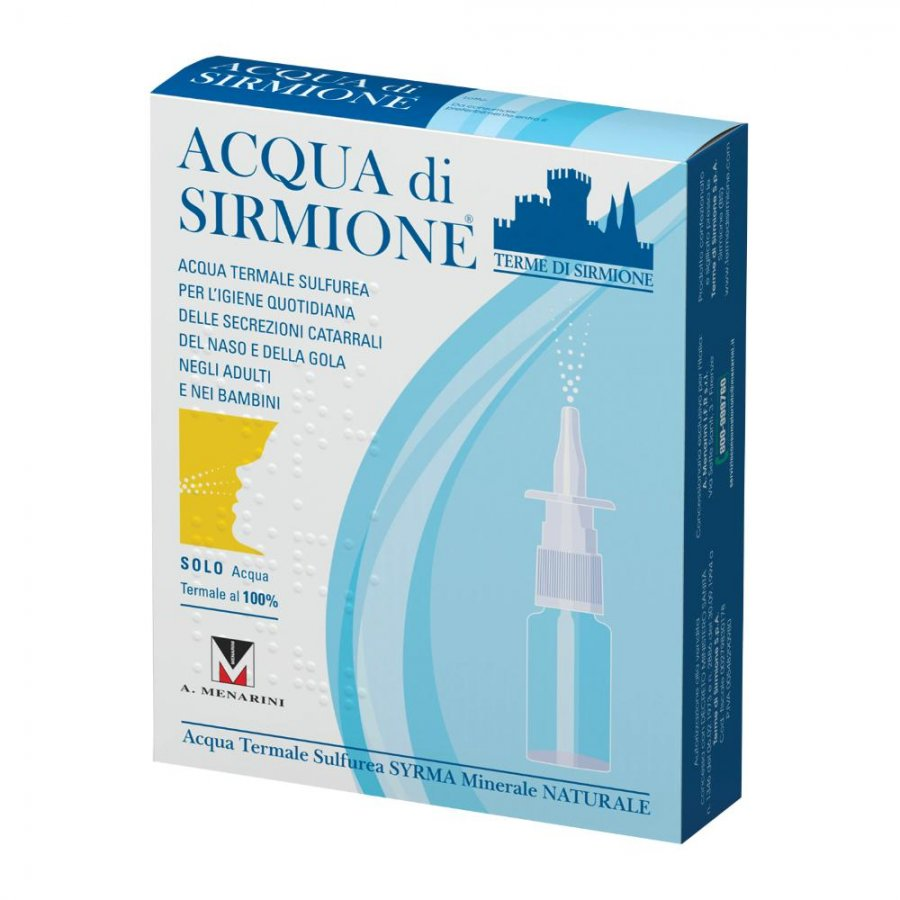 Acqua di Sirmione Protezione Vie Respiratorie Acqua Termale Spray 6 Flaconcini