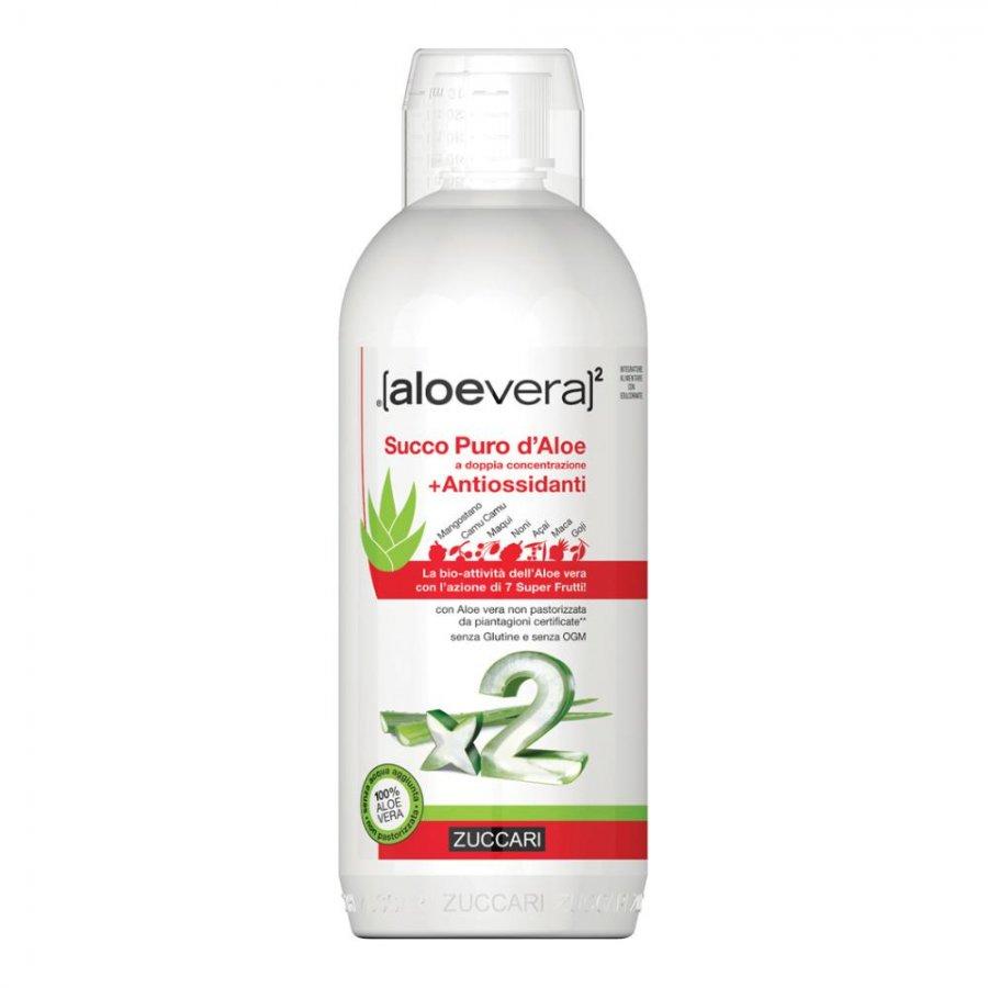 Aloevera2 Succo Puro d'Aloe + Antiossidanti 1000 ml