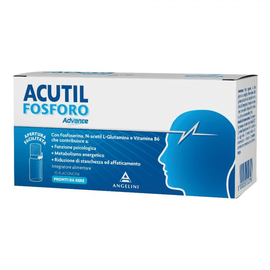 Acutil Fosforo Linea Advance - Integratore Alimentare 10 Flaconcini