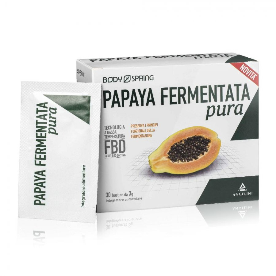 Body Spring Papaya Fermentata Pura Integratore Alimentare 30 Bustine