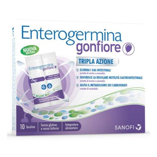 Enterogermina Gonfiore - Tripla azione - Senza Glutine Senza Lattosio -  10 buste