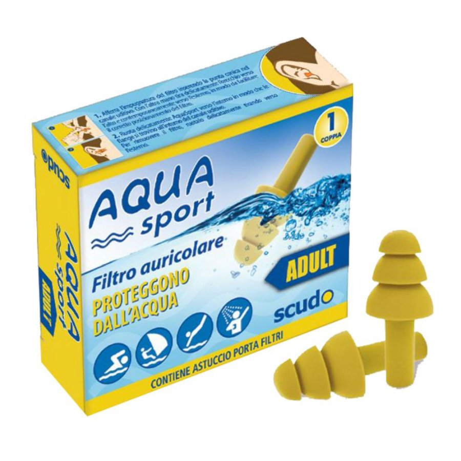 Earplug Scudo Aquasport Adulti 2 pezzi