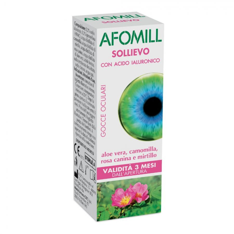 Afomill Sollievo Gocce Oculari Lubrificanti 10ml