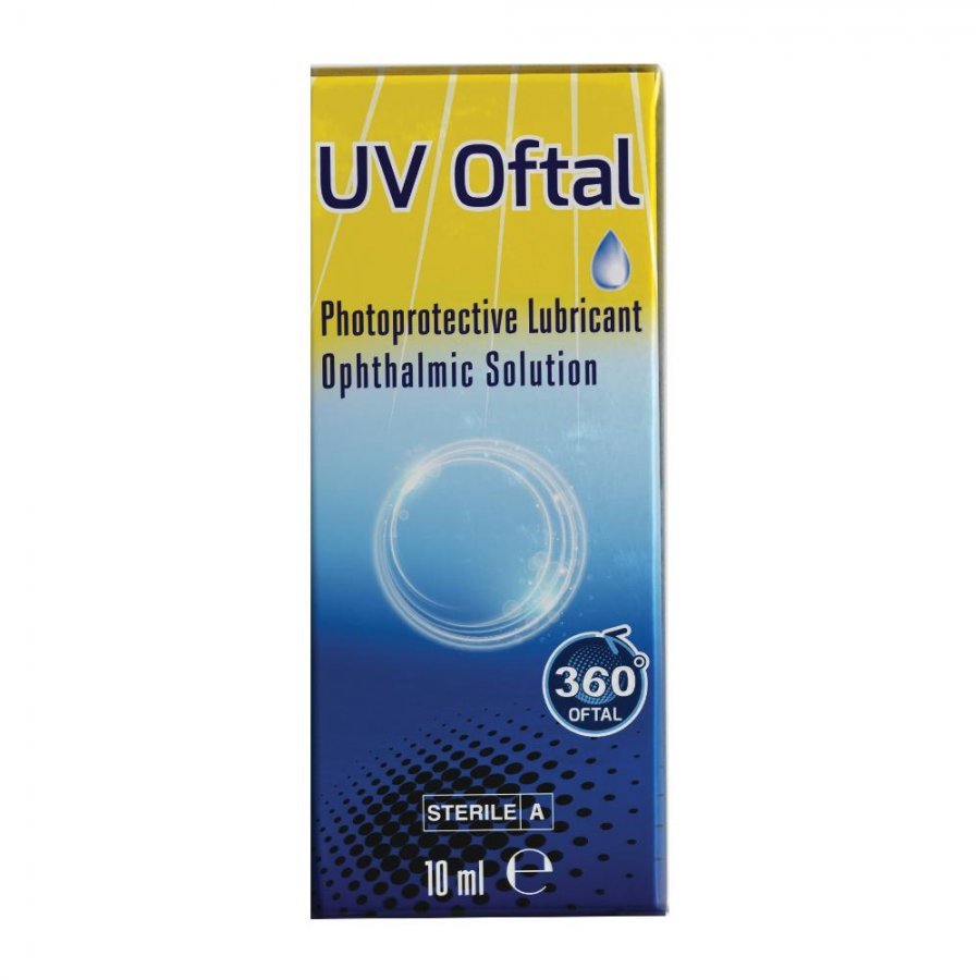 360 OFTAL srl UV SOLUZIONE OFTALMICA LUBRIFICANTE FOTOPROTETTIVA 10ML