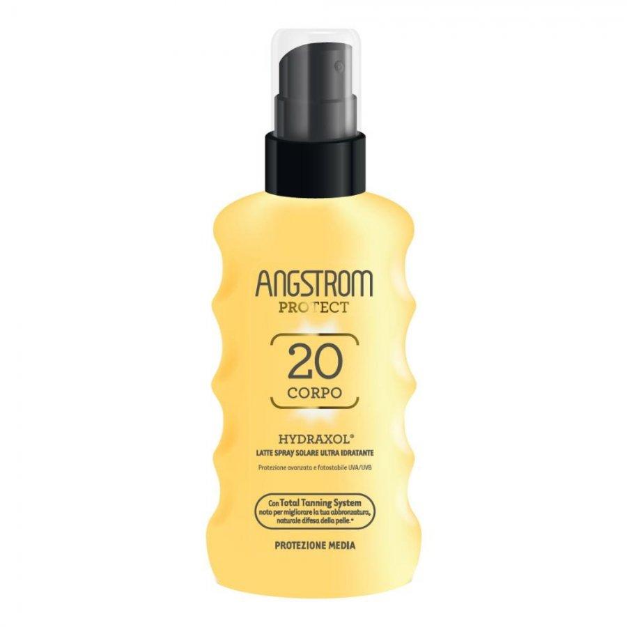 PERRIGO ITALIA Srl Angstrom Hydraxol Latte Spray SPF 20 Protezione Solare Media 175 ml