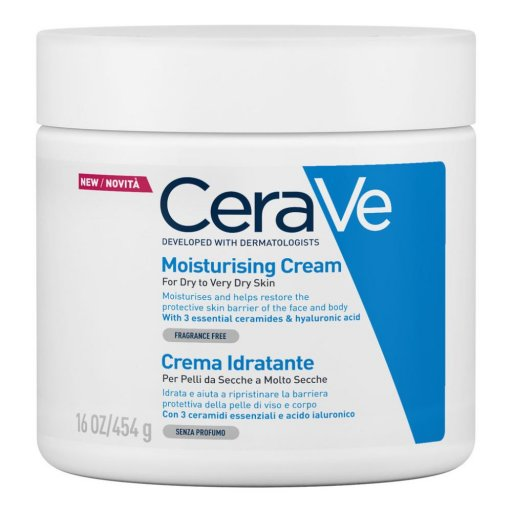 Cerave Crema Idratante 454 g - CERAVE (L'Oreal Italia SpA) - Crema idratante per pelle secca e molto secca