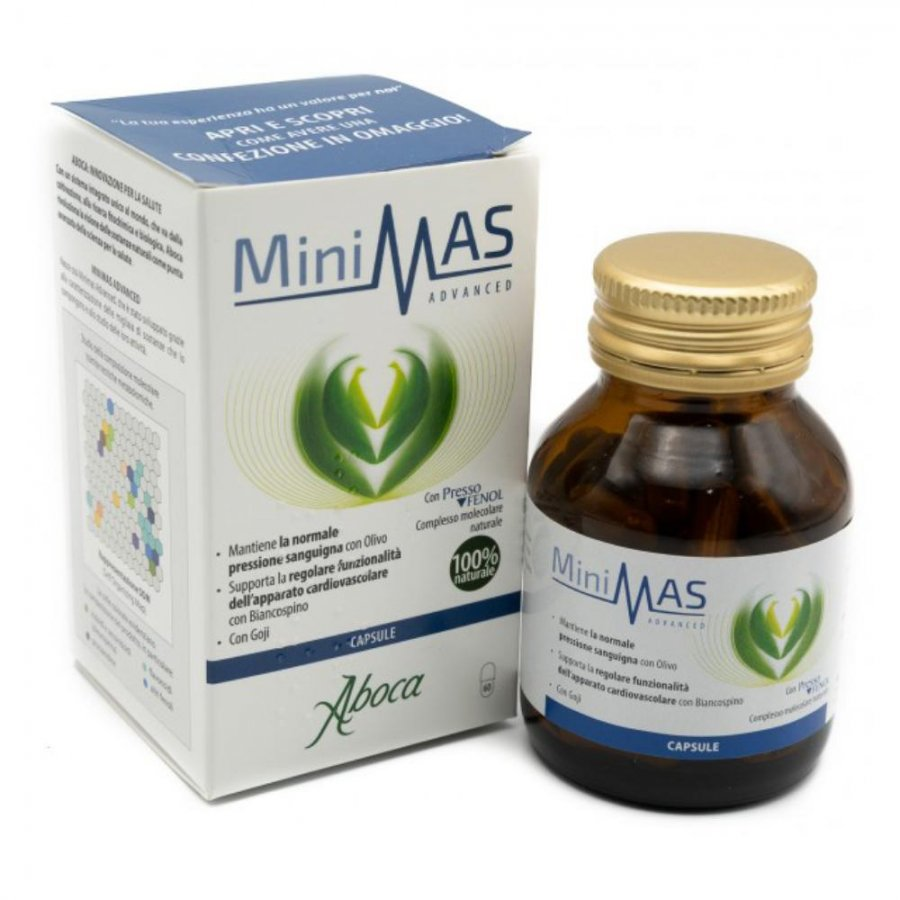 Aboca Minimas Advanced 60 capsule - Integratore alimentale con complesso PressoFenol