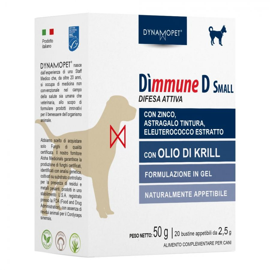 DIMMUNE D SMALL CANI 20 BUSTIN