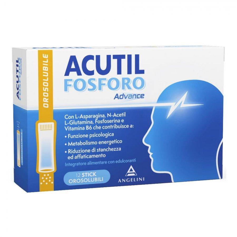 Acutil Fosforo Advance - 12 stick orosolubili